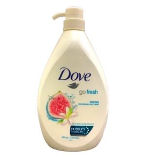 DOVE BODY WASH #66165 RESTORE W/PUMP