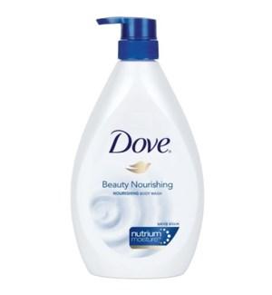 DOVE BODY WASH #7083 BEAUTY NOURISH W/PUMP