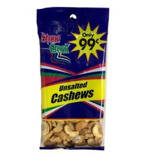 STONE CREEK NUTS #SC9902 UNSALTED CASHEWS