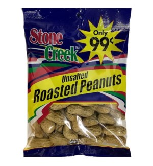 STONE CREEK NUTS #SC9932 UNSALTED ROASTED PEANUTS