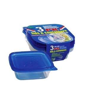 DO #2150 3PK FOOD CONTAINER/SQUARE