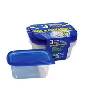 DO #2151 3PK FOOD CONTAINER/RECT.