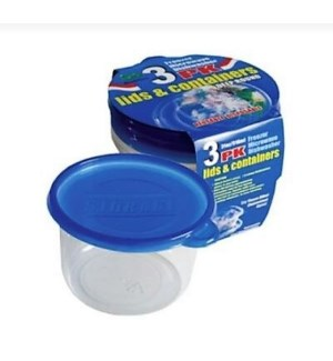 DO #2154 3PK FOOD CONTAINER/ROUND