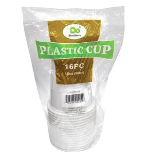 PLASTIC CUP 16OZ #07488 WHITE     (DO CUP)