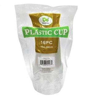 PLASTIC CUP 16OZ #7608 CLEAR(DO CUP)