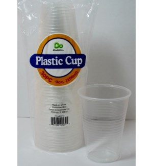 PLASTIC CUP 9OZ #2232 9OZ CLEAR (DOWIN)