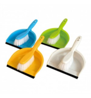 DO #5133 DUSTPAN W/BRUSH SET (RUBBER EDG