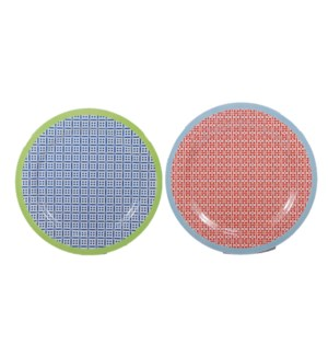 MELAMINE #B10080S SALAD PLATE/CHECKS