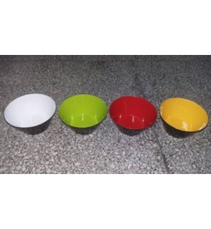 MELAMINE #E46556BS SALAD BOWL 2TONE BLACK