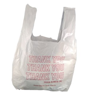 T SACK 1/10 SMALL THANK YOU WHITE