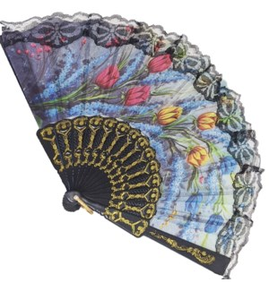 HAND FAN #DFY106 BLACK ASST