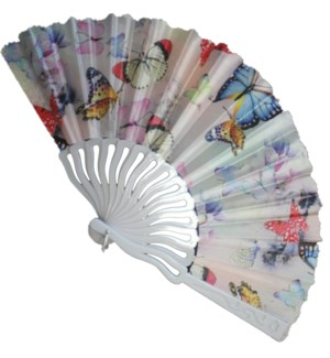 HAND FAN #DFY110 WHITE ASST