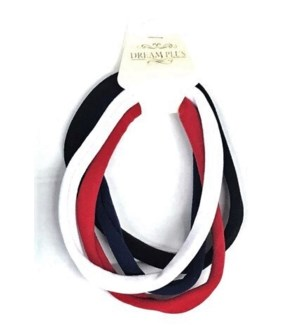 ELASTIC HAIR TIES #DHY272TM TOMMY MIXED COLORS