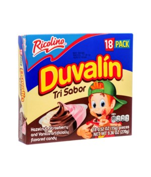 DUVALIN HAZELNUT,STRABERRY&VANILLA 6/18CT BB JUN/23/21