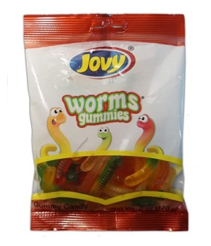 GUMMY WORMS 12/6OZ EXP JUL/21/22