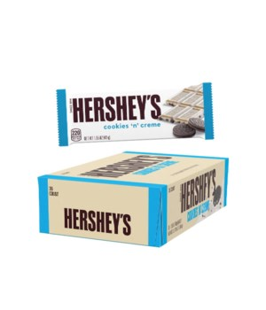 HERSHEYS COOKIES&CREAM 36/1.55OZ