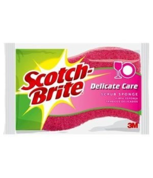 SCOTCH-BRITE DELICATE CARE SCRUB SPONGE 12/1PK(0015)