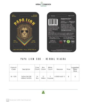 PAPA LION CBD INFUSED 12/2CT