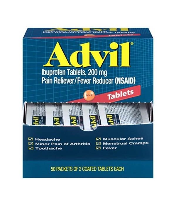 ADVIL PAIN RELIVER DISPENSER 50/2PK