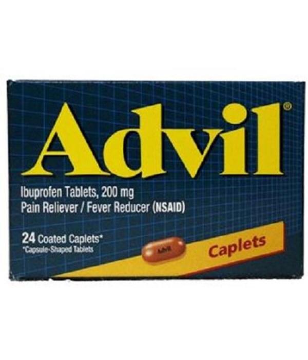 ADVIL PAIN RELIEVER CAPLETS 6/24CT(BOTTLE)