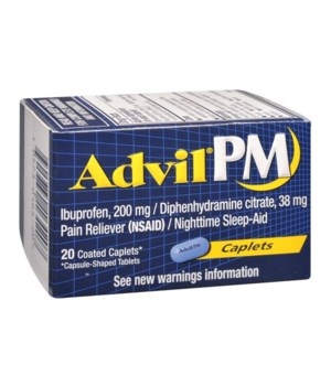 ADVIL PM CAPLETS 6/24CT(BOTTLE)