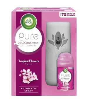 AIRWICK FRESHMATIC STARTER KIT TROPICAL FLOWERS 4/1CT