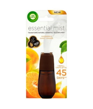 AIRWICK ESSENTIAL MIST MANDARIN&ORANGE 6/.67OZ