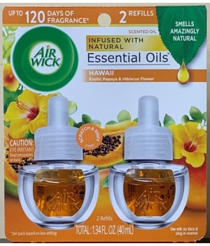 AIRWICK OIL REFILL HAWAIIAN EXOTIC 6/2PK (85175)