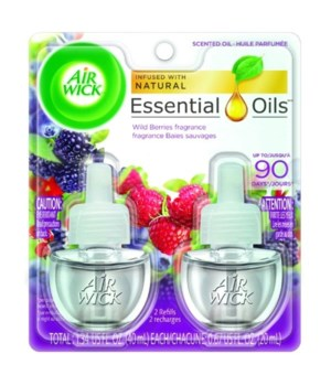 AIRWICK OIL REFILL WILD BERRIES 6/(2PK.67OZ (89666)