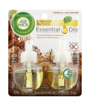 AIRWICK OIL REFILL WOODLAND MYSTIQUE 6/(2X.67OZ)(98547)