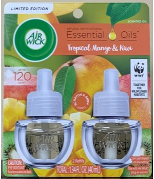 AIRWICK OIL REFILL PURE SWEET MANGO 6(2X67OZ)  77911