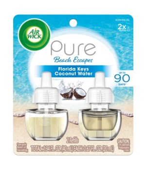AIRWICK OIL REFILL PURE FLORIDA KEYS COCONUT WATER 6(2X67OZ)77914
