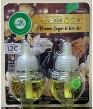 AIRWICK OIL REFILL VANILLA CREAM 6/2PK