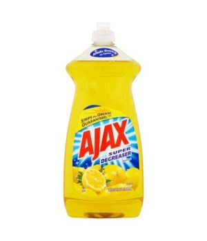 AJAX DISH WASHING LIQUID SUPER DEGREASER LEMON 9/28OZ(44673)