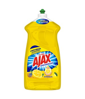 AJAX DISH WASHING LIQUID SUPER DEGREASER LEMON 6/52OZ (49861)