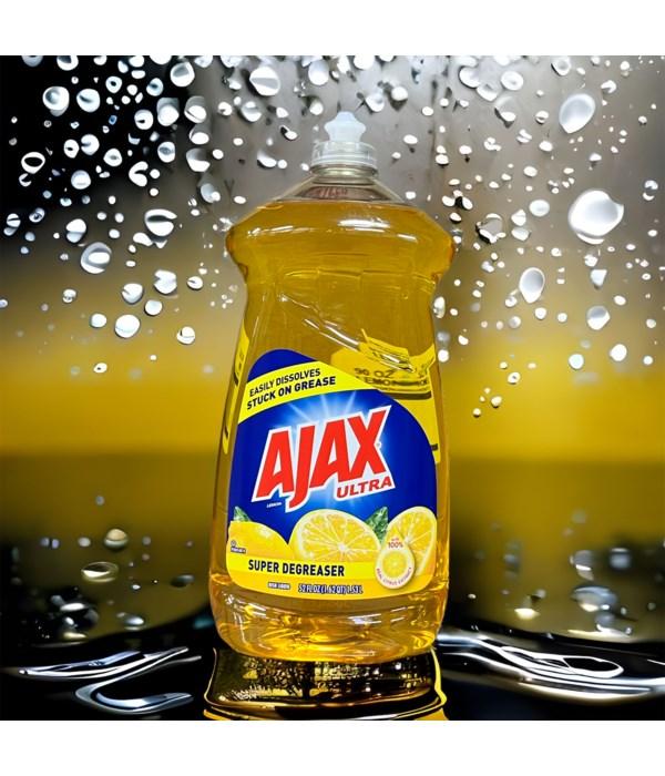 AJAX DISH WASHING LIQUID SUPER DEGREASER LEMON 6/52OZ