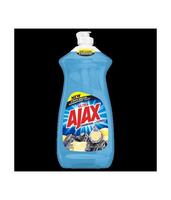 AJAX DISH WASHING CHARCOAL+CITRUS 6/52OZ