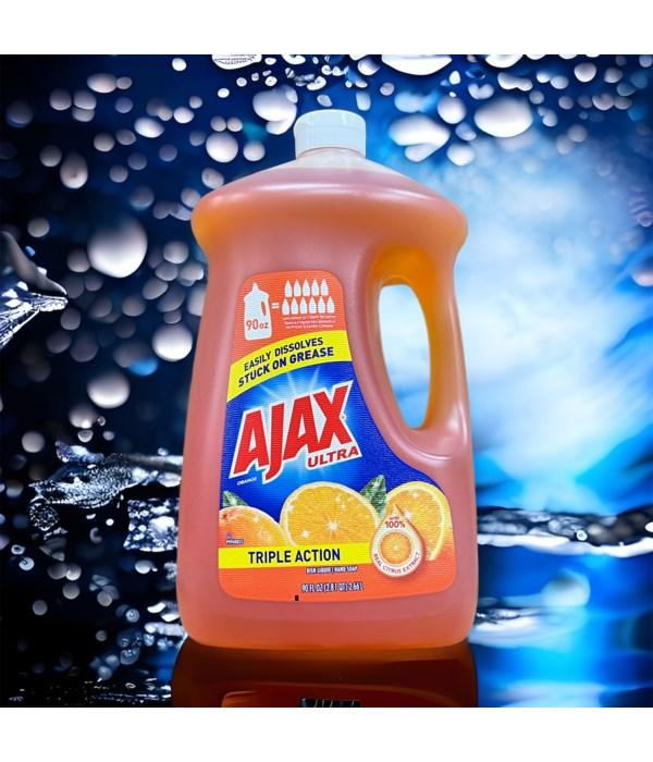 AJAX DISH WASHING LIQ ORANGE 4/90OZ(49874)