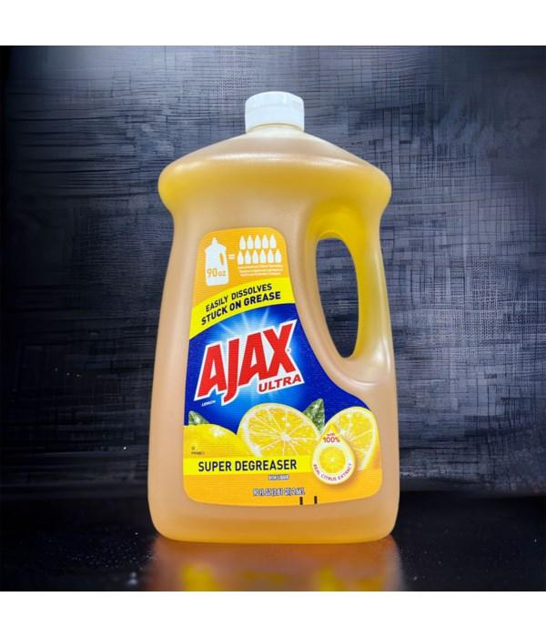 AJAX DISH WASHING LIQ LEMON 4/90OZ
