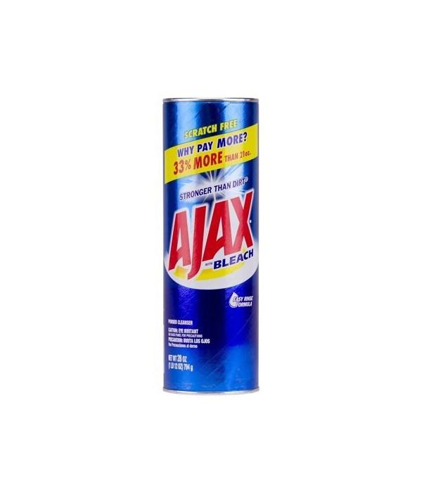 AJAX WITH BLEACH CLEANSER POWER 12/28 OZ