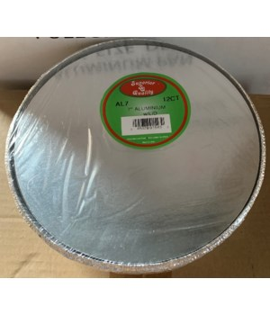 """7"""" ALUMINUM CONTAINER W/BOARD LID 24/12CT"""
