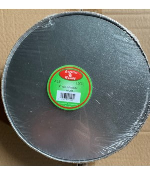 """9"""" ALUMINUM PAN W/BOARD LID 24/12CT"""