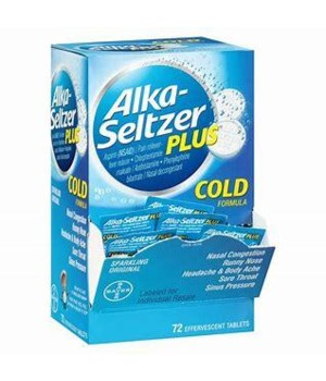 ALKA-SELTZER COLD 72CT EXP