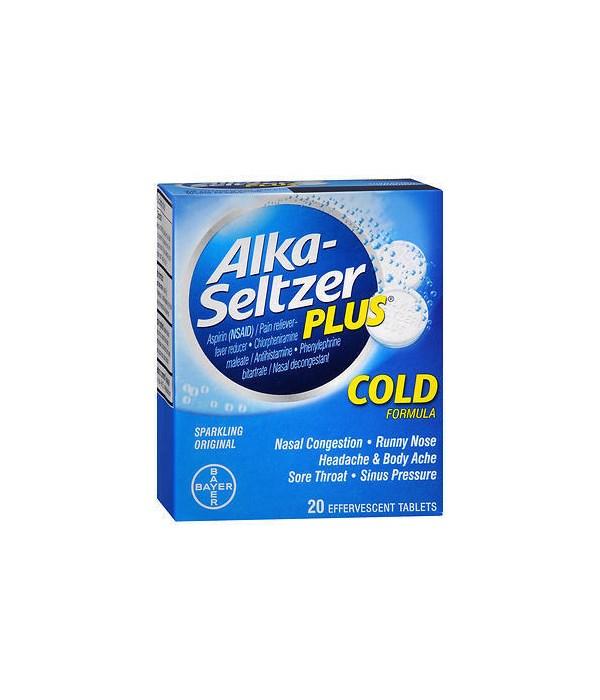 ALKA-SELTZER COLD PLUS 20/2CT