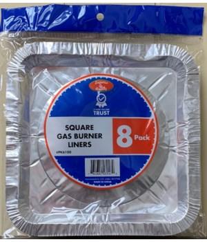 SQUARE ALUMINUM GAS LINER 48/8CT
