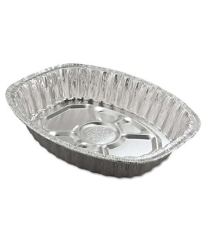 ALUMINUM PAN JUMBO OVAL ROASTER 100CT