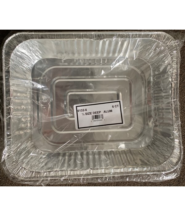 1/2 SIZE ALUMINUM PAN 24/6PK (6132-6)