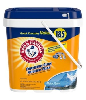 ARM&HAMMER LAUNDRY POWDER ALPINE CLEAN 2/185LDS(97200)