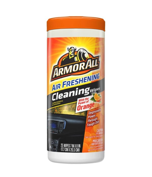 ARMORALL CLEANING WIPES FRESH ORANGE 6/25 CT