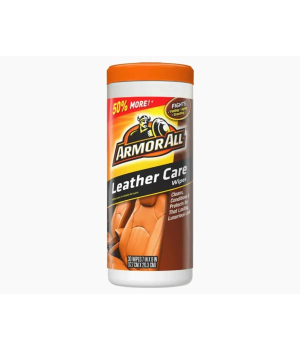 ARMORALL LEATHER CARE WIPES 6/30 CT